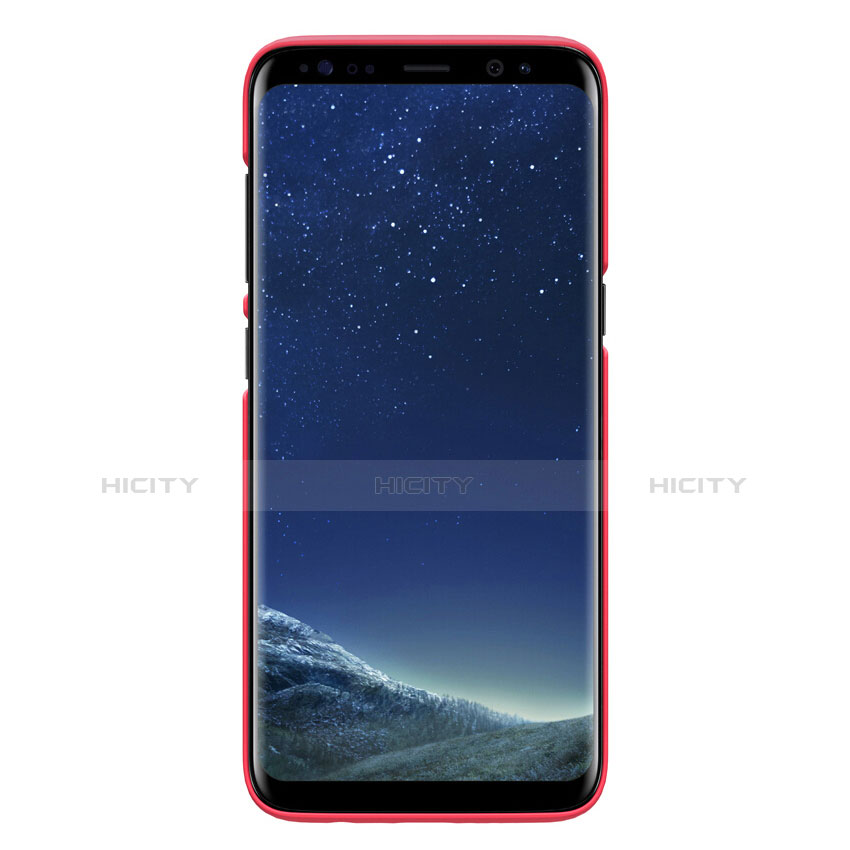 Hülle Kunststoff Schutzhülle Matt P01 für Samsung Galaxy S8 Rot groß