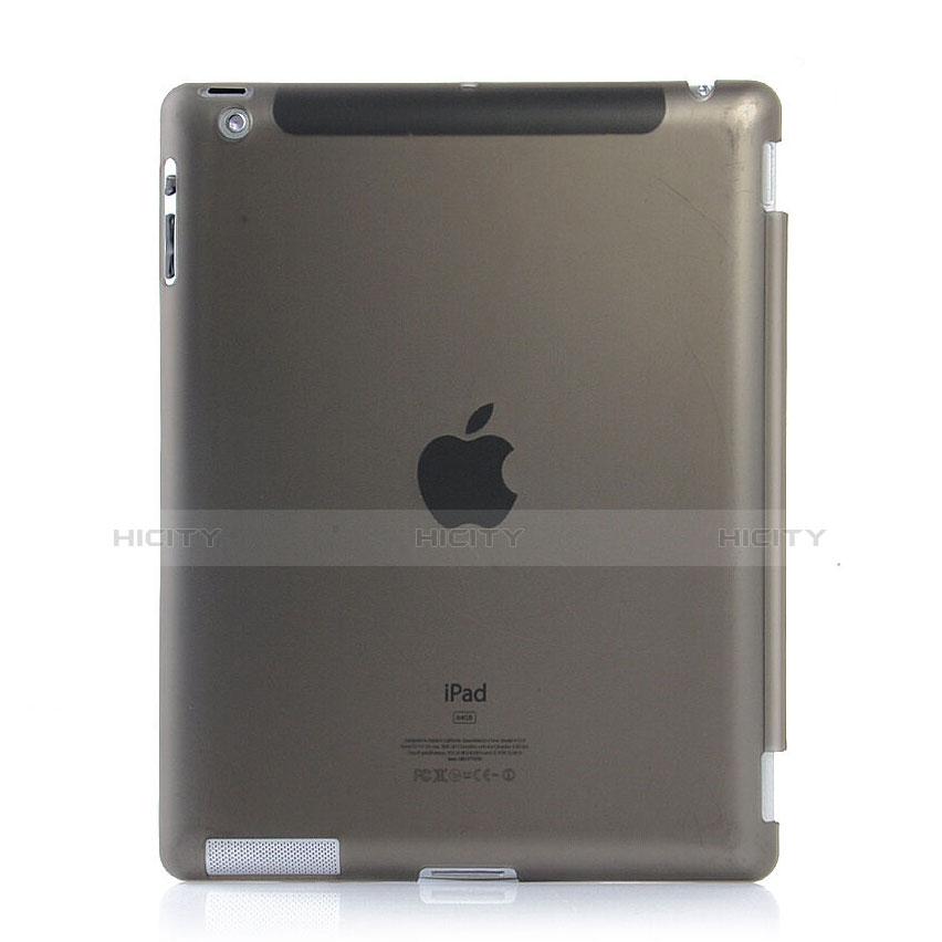 Hülle Ultra Dünn Schutzhülle Durchsichtig Transparent Matt für Apple iPad 4 Grau Plus