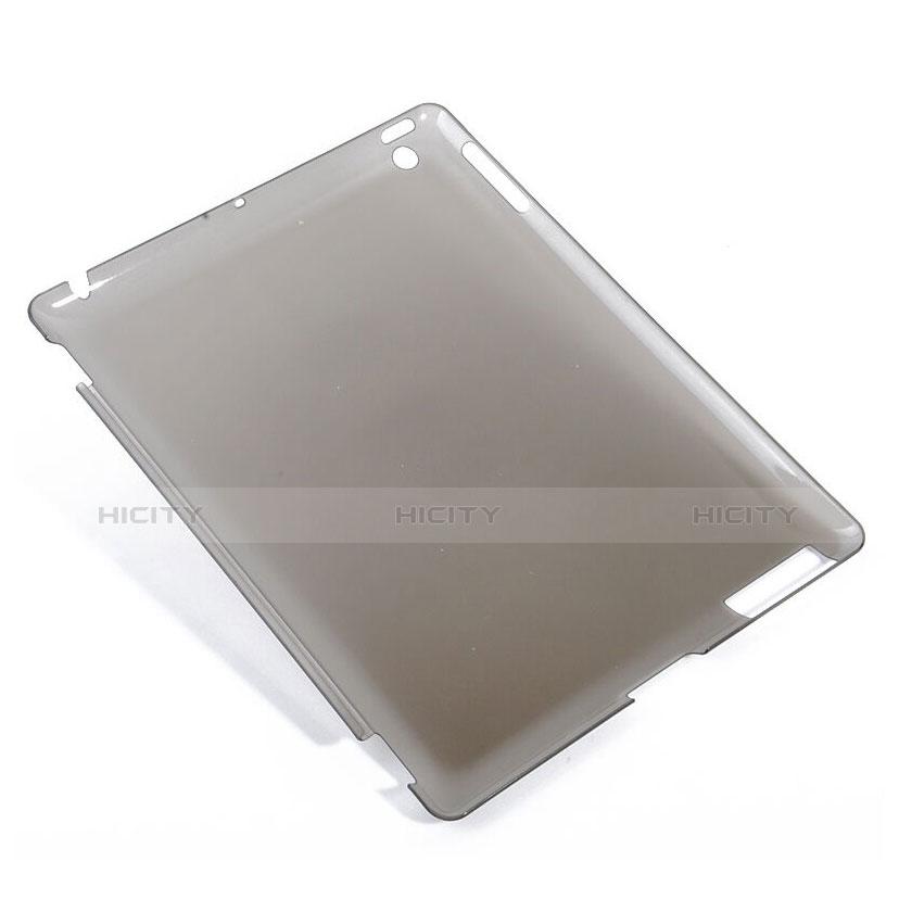 Hülle Ultra Dünn Schutzhülle Durchsichtig Transparent Matt für Apple iPad 4 Grau groß