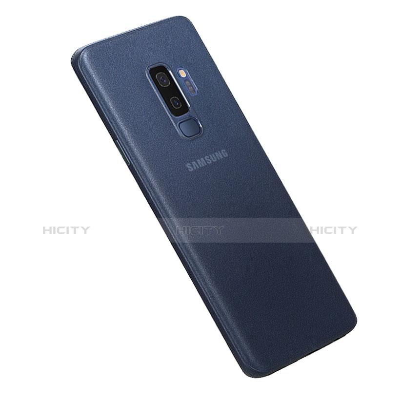 Hülle Ultra Dünn Schutzhülle Tasche Durchsichtig Transparent Matt für Samsung Galaxy S9 Plus Blau Plus