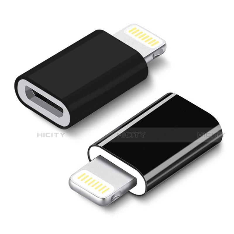 Kabel Android Micro USB auf Lightning USB H01 für Apple iPhone 11 Schwarz groß