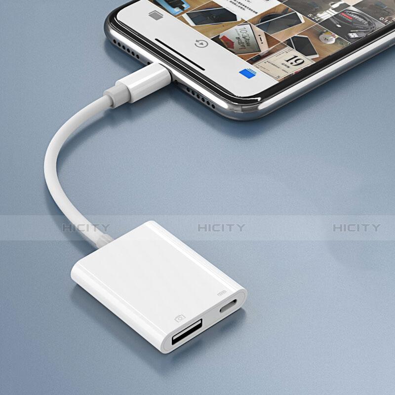 Kabel Lightning auf USB OTG H01 für Apple iPhone 11 Weiß groß