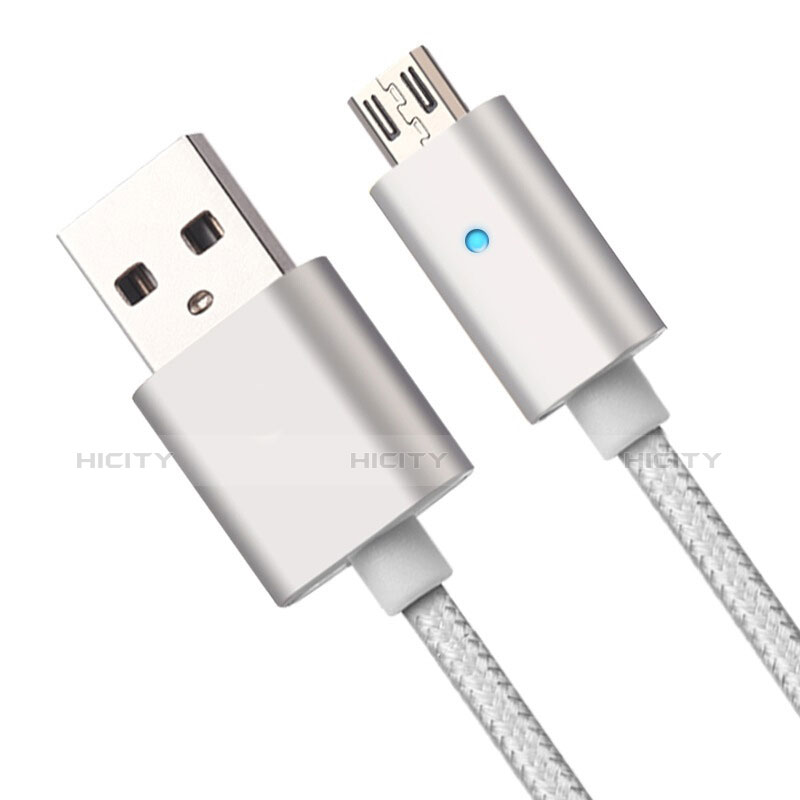 Kabel USB 2.0 Android Universal A08 Silber Plus