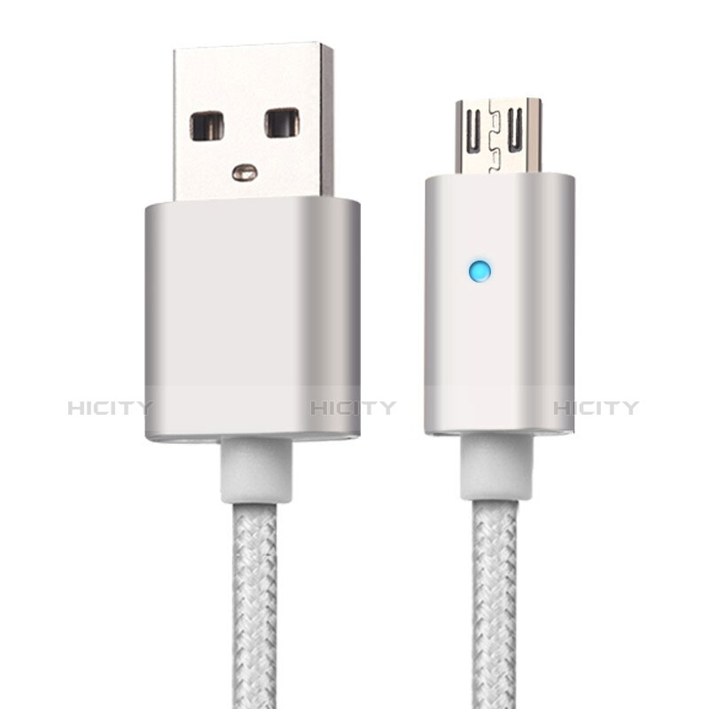 Kabel USB 2.0 Android Universal A08 Silber groß
