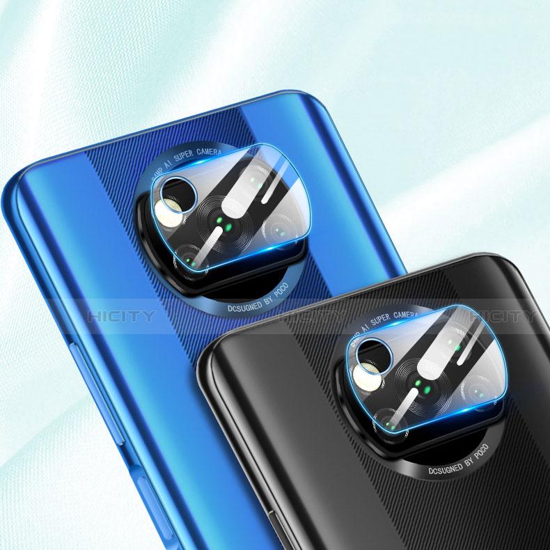 Kameraschutz Gehärtetes Glas Glasfolie Skins zum Aufkleben Panzerglas für Xiaomi Poco X3 NFC Klar groß