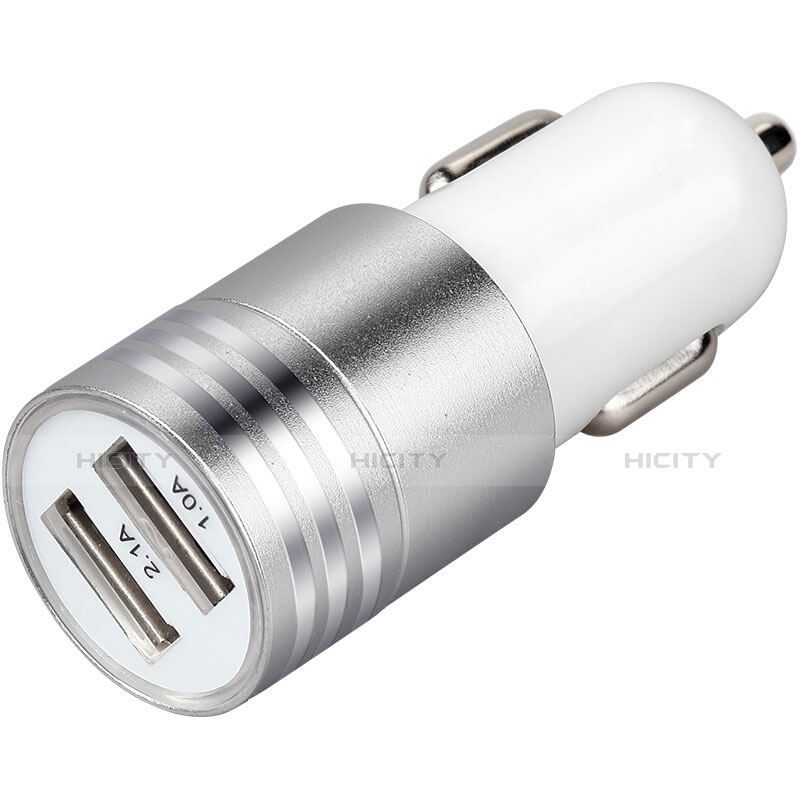Kfz-Ladegerät Adapter 3.1A Dual USB Zweifach Stecker Fast Charge Universal U04 Weiß groß