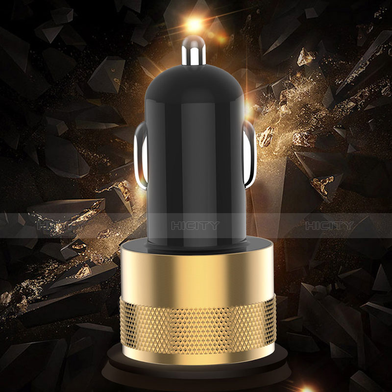 Kfz-Ladegerät Adapter 3.1A Dual USB Zweifach Stecker Fast Charge Universal U06 Schwarz groß