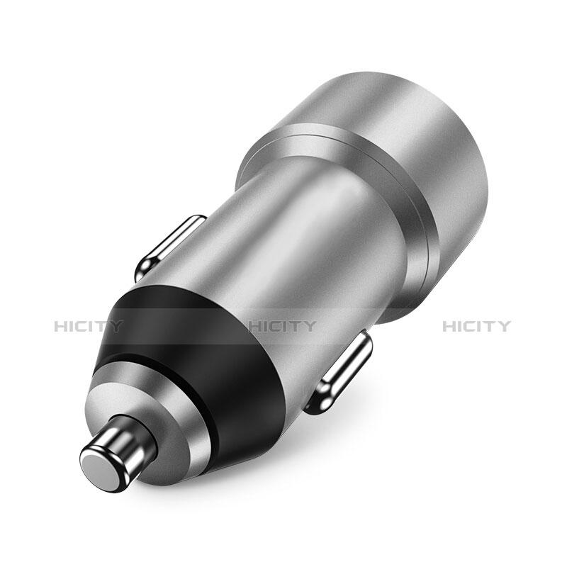 Kfz-Ladegerät Adapter 3.4A Dual USB Zweifach Stecker Fast Charge Universal U02 Silber Plus