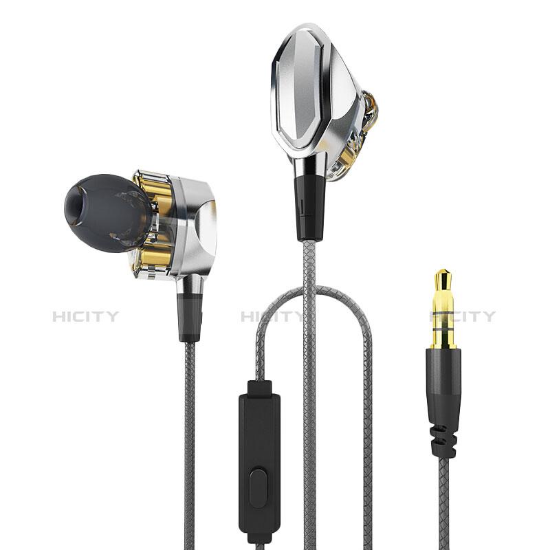 Kopfhörer Stereo Sport Ohrhörer In Ear Headset H04 Silber Plus