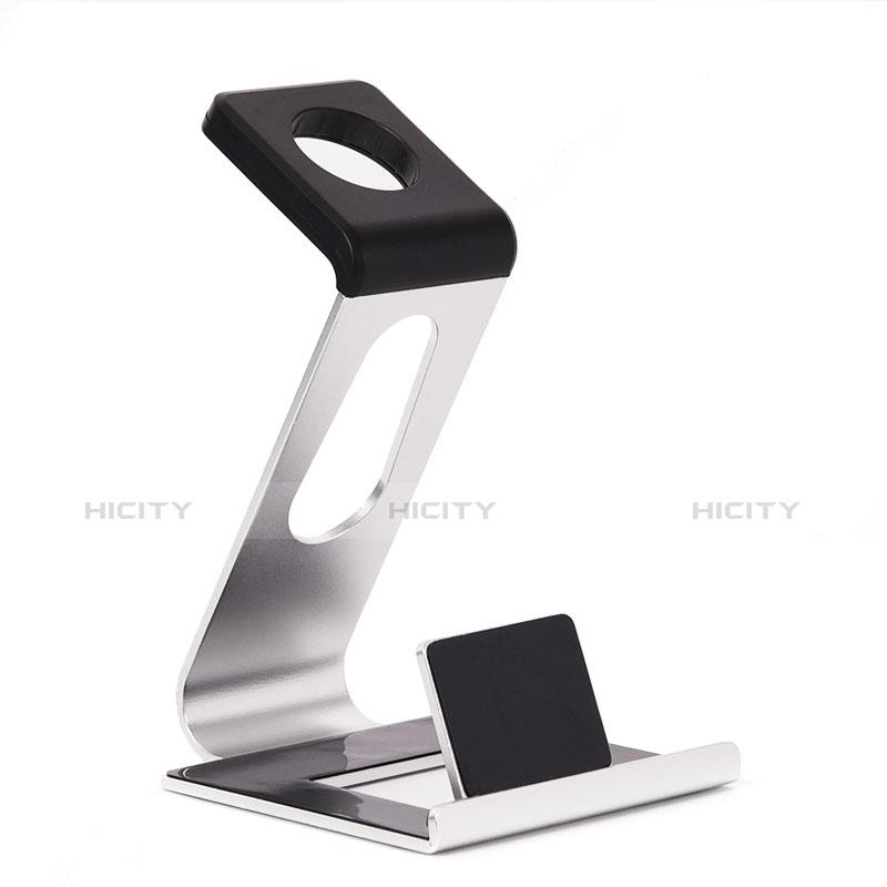Ladegerät Dock Ladestation Ständer Halter Halterung C02 für Apple iWatch 3 38mm Silber groß
