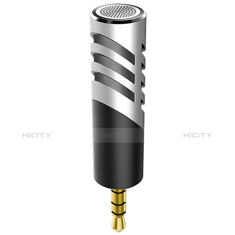 Mini-Stereo-Mikrofon Mic 3.5 mm Klinkenbuchse M09 Silber Plus