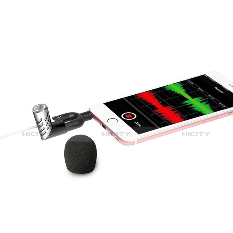 Mini-Stereo-Mikrofon Mic 3.5 mm Klinkenbuchse M09 Silber groß