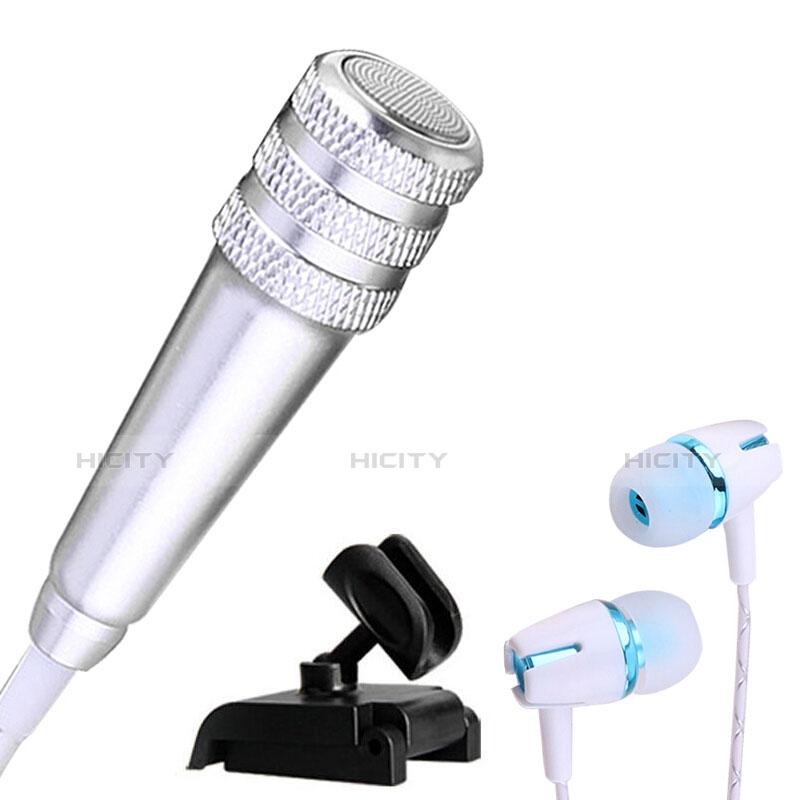 Mini-Stereo-Mikrofon Mic 3.5 mm Klinkenbuchse Mit Stand M08 Silber Plus