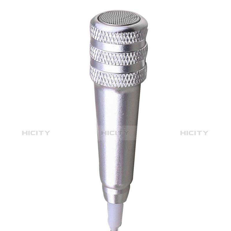 Mini-Stereo-Mikrofon Mic 3.5 mm Klinkenbuchse Mit Stand M08 Silber groß