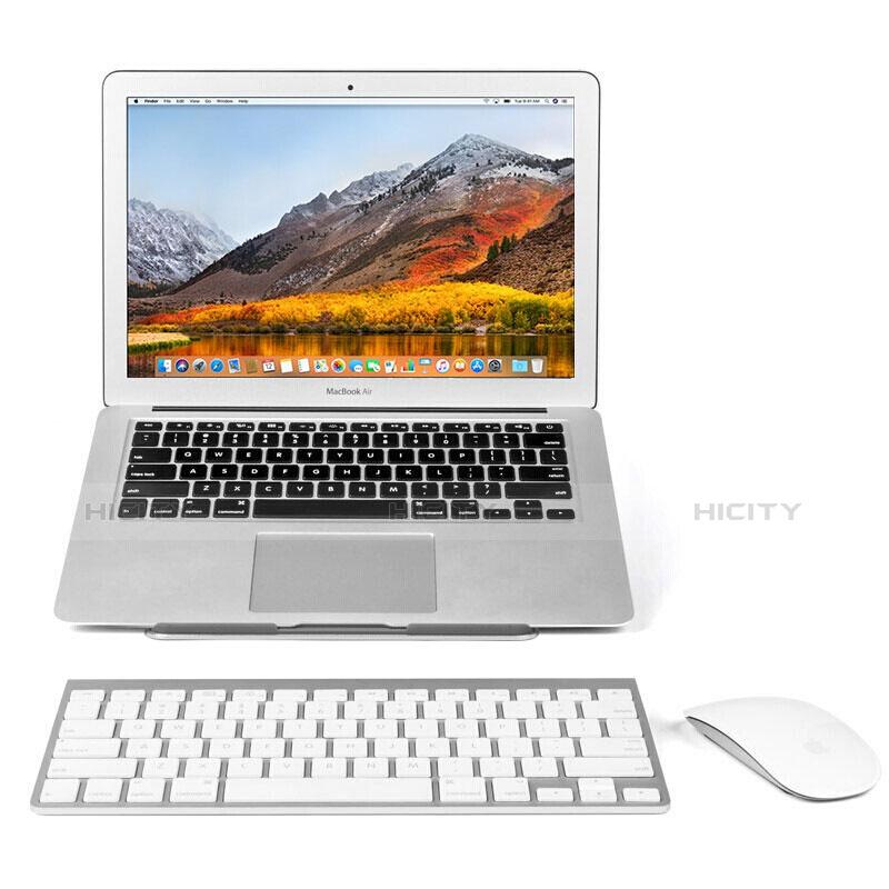NoteBook Halter Halterung Laptop Ständer Universal S04 für Apple MacBook Pro 13 zoll Retina Silber groß