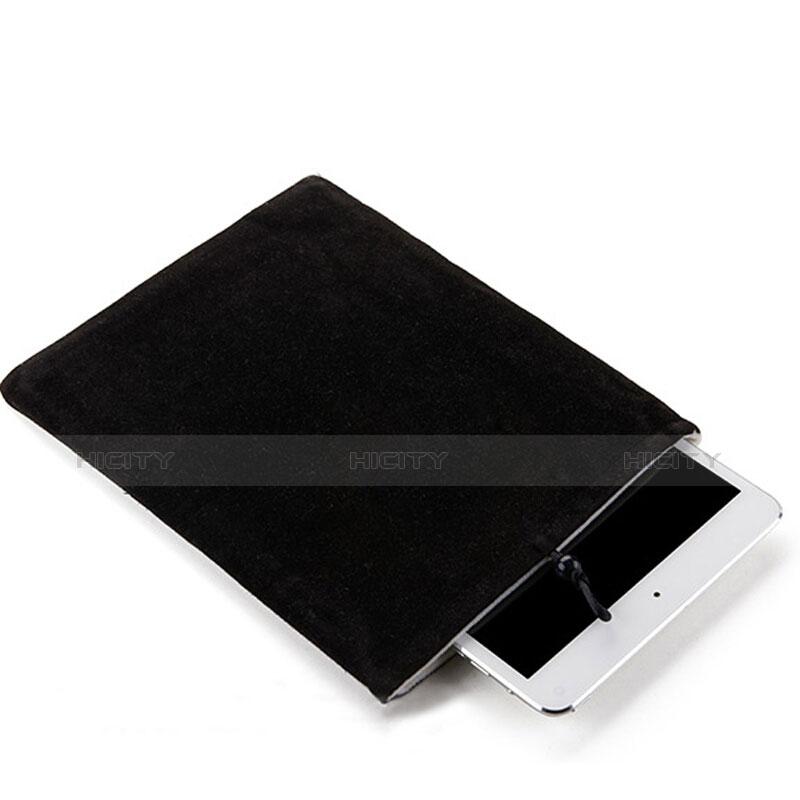 Samt Handy Tasche Schutz Hülle für Apple iPad New Air (2019) 10.5 Schwarz Plus
