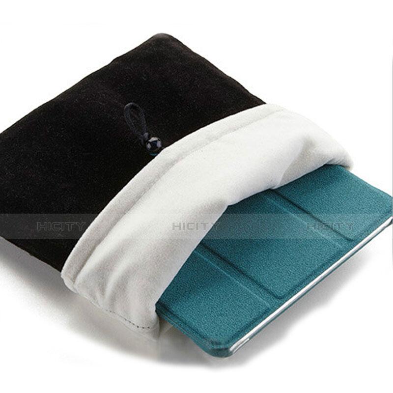 Samt Handy Tasche Schutz Hülle für Apple iPad New Air (2019) 10.5 Schwarz groß