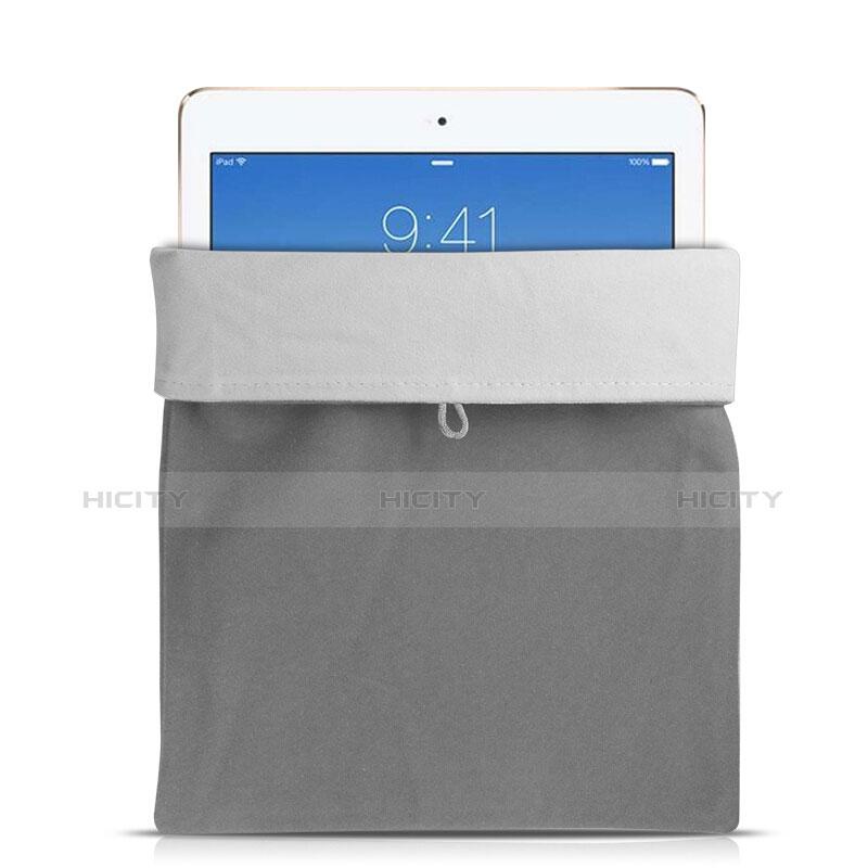 Samt Handy Tasche Schutz Hülle für Huawei MatePad 10.4 Grau Plus