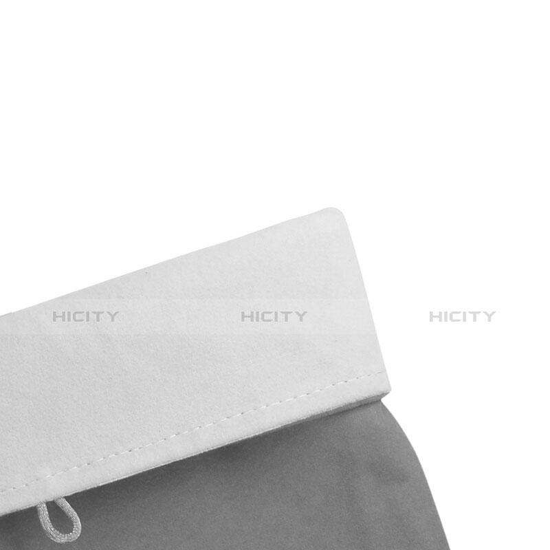 Samt Handy Tasche Schutz Hülle für Huawei MatePad 10.4 Grau groß