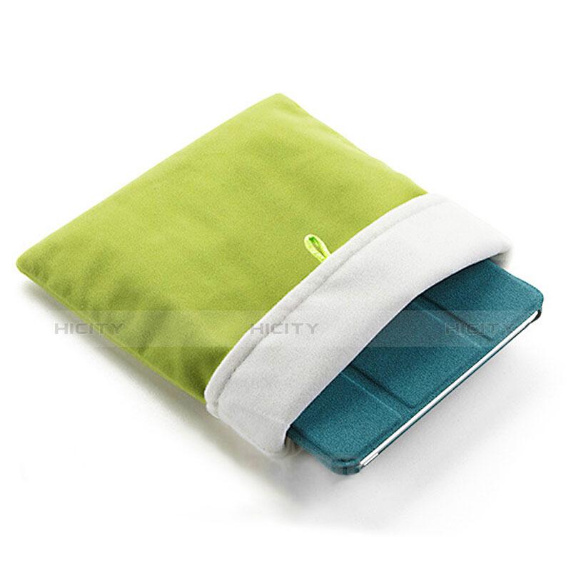 Samt Handy Tasche Schutz Hülle für Huawei MatePad 10.4 Grün groß
