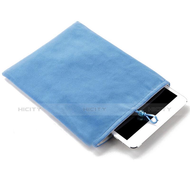 Samt Handy Tasche Schutz Hülle für Huawei MatePad 10.4 Hellblau Plus