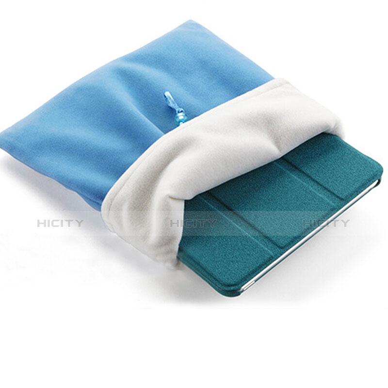 Samt Handy Tasche Schutz Hülle für Huawei MatePad 10.4 Hellblau groß
