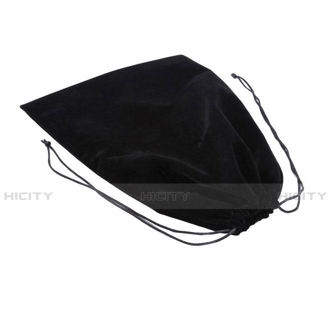 Samt Handy Tasche Sleeve Hülle für Huawei MatePad 10.4 Schwarz groß