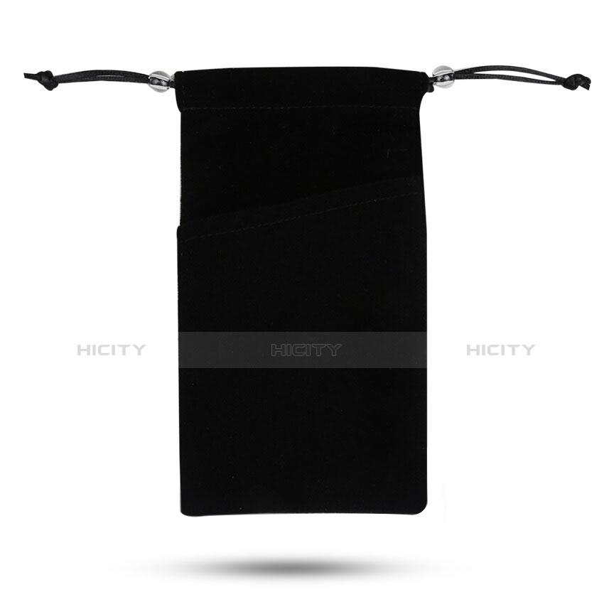 Samtbeutel Säckchen Samt Handy Tasche Universal Schwarz Plus