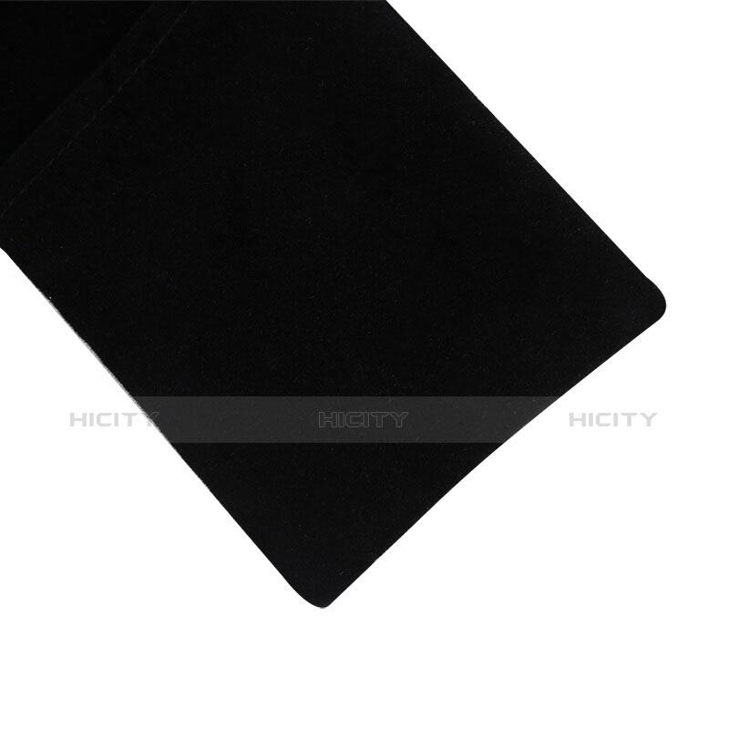 Samtbeutel Säckchen Samt Handy Tasche Universal Schwarz groß