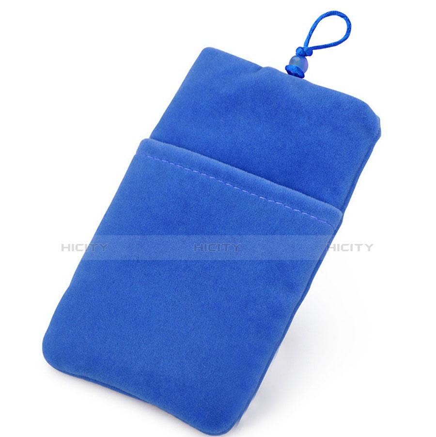 Schmuckbeutel Schwarz Samtbeutel Säckchen Universal Blau Plus