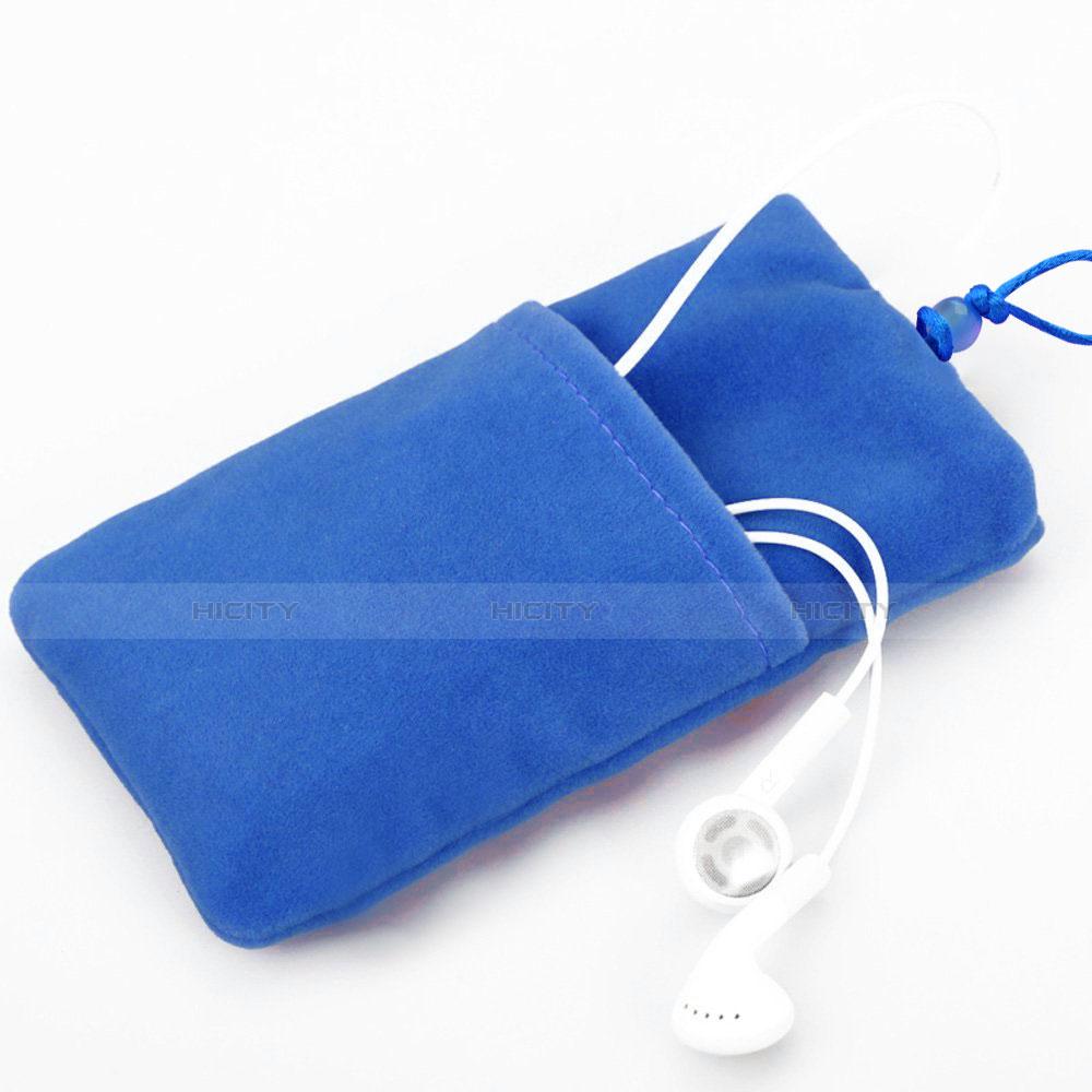 Schmuckbeutel Schwarz Samtbeutel Säckchen Universal Blau groß