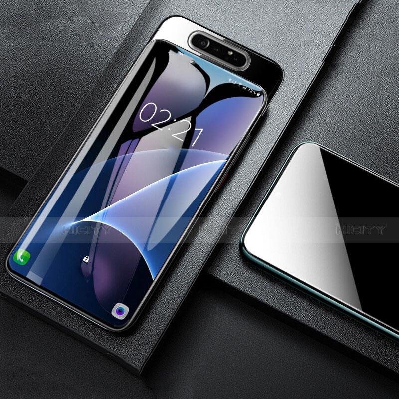 Schutzfolie Displayschutzfolie Panzerfolie Gehärtetes Glas Glasfolie Skins zum Aufkleben Panzerglas T01 für Samsung Galaxy A80 Klar Plus