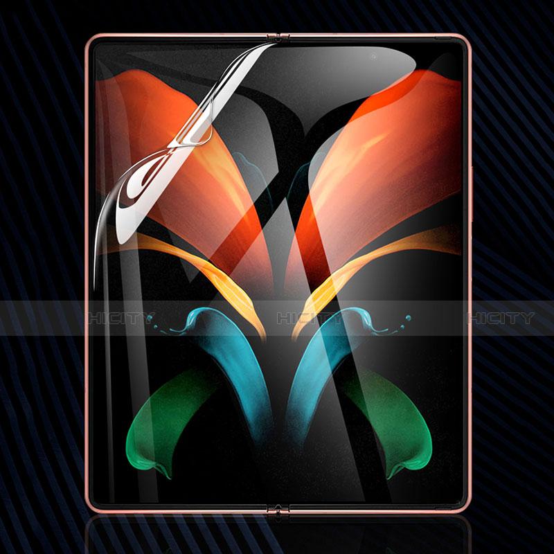 Schutzfolie Displayschutzfolie Panzerfolie Skins zum Aufkleben Full Coverage für Samsung Galaxy Z Fold2 5G Klar Plus