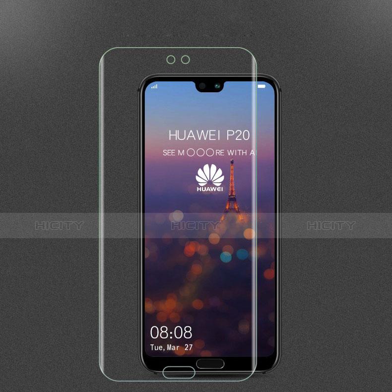 Schutzfolie Displayschutzfolie Panzerfolie Skins zum Aufkleben Gehärtetes Glas Glasfolie für Huawei P20 Klar groß
