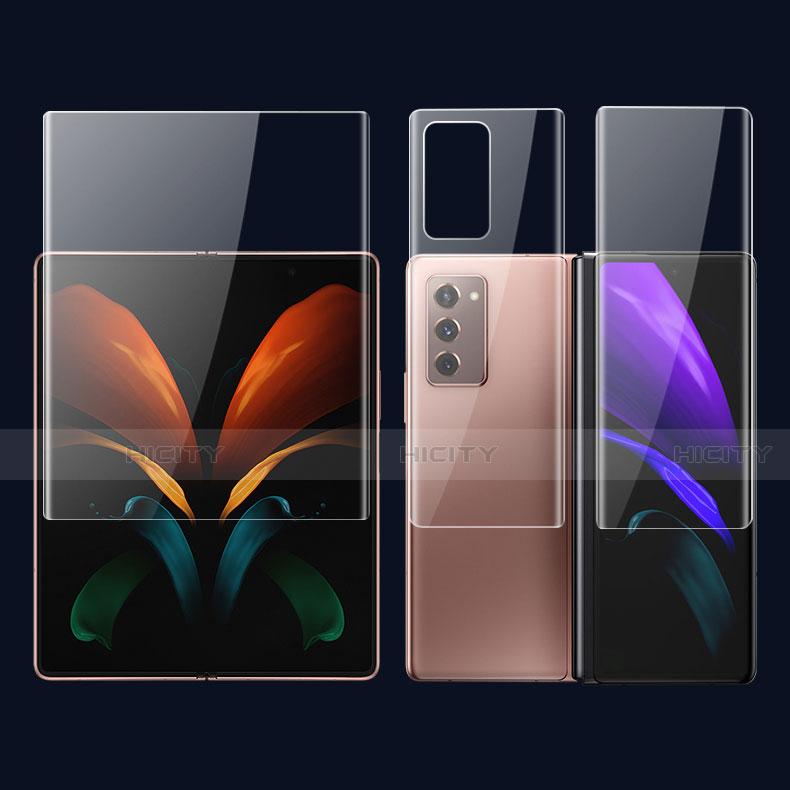 Schutzfolie Displayschutzfolie Panzerfolie Vorder und Rückseite Skins zum Aufkleben F01 für Samsung Galaxy Z Fold2 5G Klar Plus