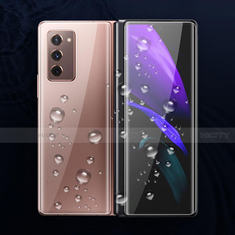 Schutzfolie Displayschutzfolie Panzerfolie Vorder und Rückseite Skins zum Aufkleben F01 für Samsung Galaxy Z Fold2 5G Klar groß