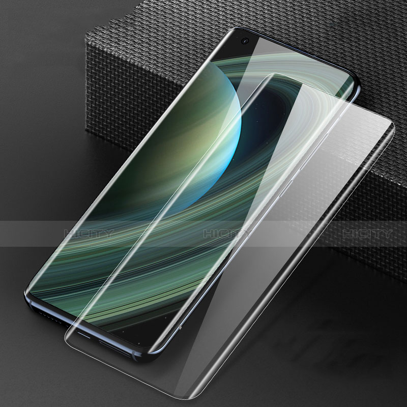 Schutzfolie Full Coverage Displayschutzfolie Panzerfolie Gehärtetes Glas Glasfolie Skins zum Aufkleben Panzerglas F04 für Xiaomi Mi 10 Ultra Schwarz groß