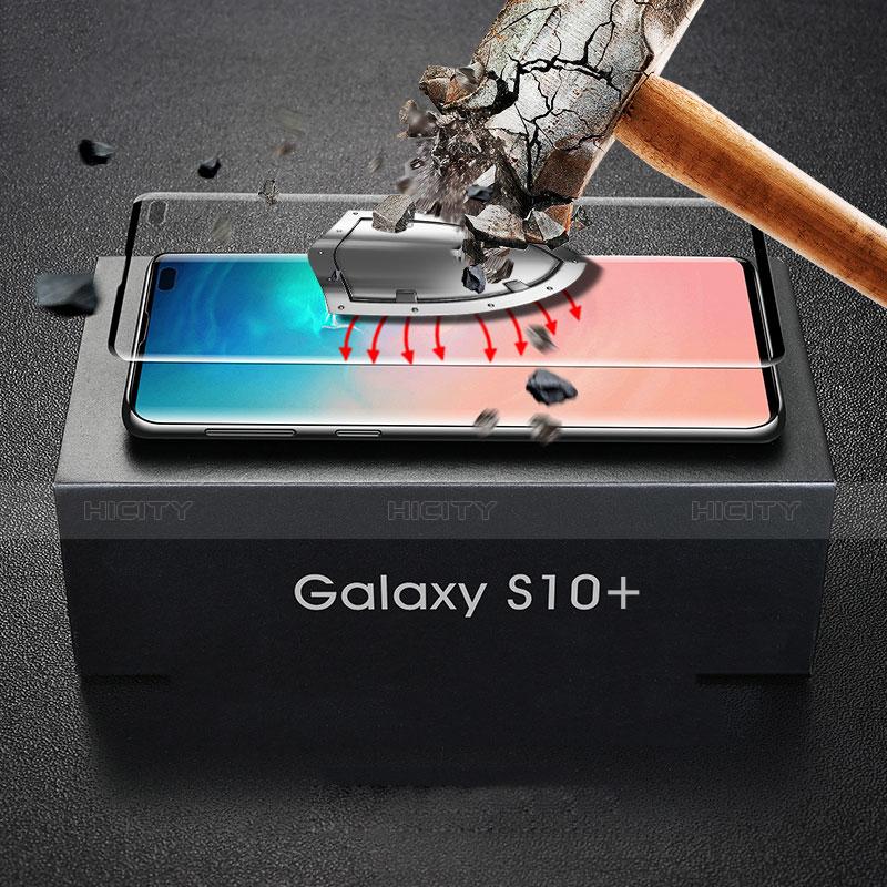 Schutzfolie Full Coverage Displayschutzfolie Panzerfolie Gehärtetes Glas Glasfolie Skins zum Aufkleben Panzerglas für Samsung Galaxy S10 Plus Schwarz Plus