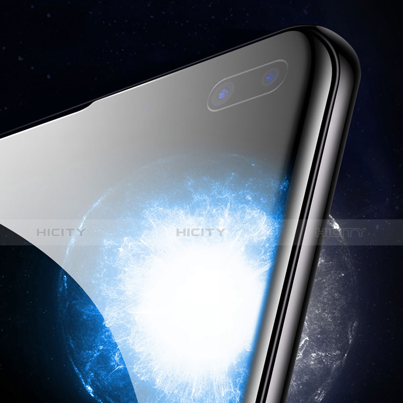 Schutzfolie Full Coverage Displayschutzfolie Panzerfolie Gehärtetes Glas Glasfolie Skins zum Aufkleben Panzerglas für Samsung Galaxy S10 Plus Schwarz groß