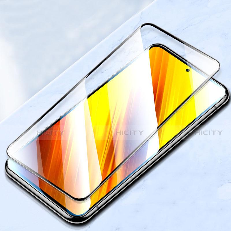 Schutzfolie Full Coverage Displayschutzfolie Panzerfolie Gehärtetes Glas Glasfolie Skins zum Aufkleben Panzerglas für Xiaomi Poco X3 NFC Schwarz Plus