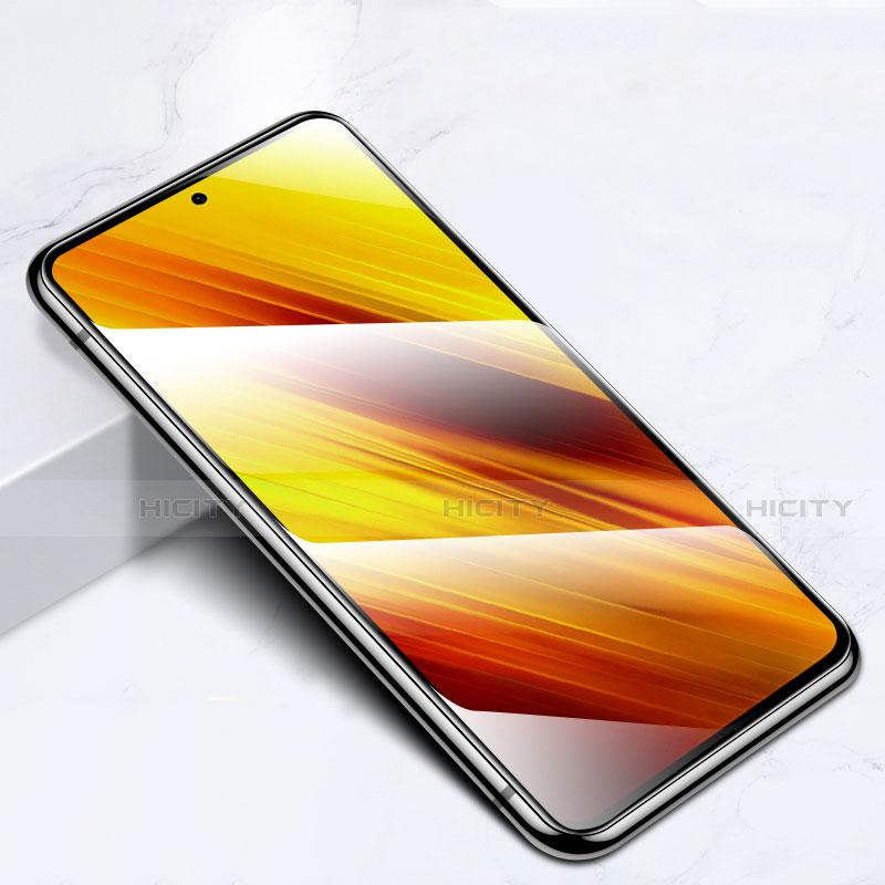 Schutzfolie Full Coverage Displayschutzfolie Panzerfolie Gehärtetes Glas Glasfolie Skins zum Aufkleben Panzerglas für Xiaomi Poco X3 NFC Schwarz groß