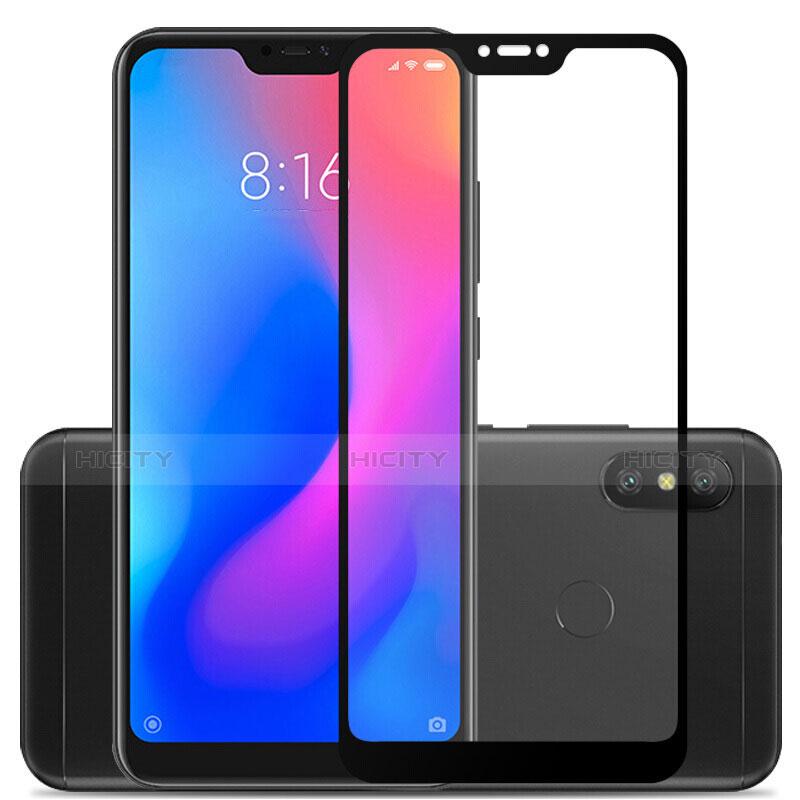 Schutzfolie Full Coverage Displayschutzfolie Panzerfolie Skins zum Aufkleben Gehärtetes Glas Glasfolie F03 für Xiaomi Redmi 6 Pro Schwarz groß