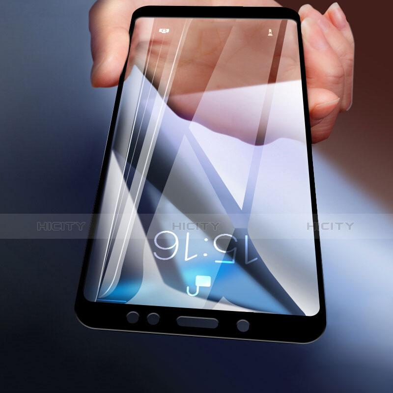 Schutzfolie Full Coverage Displayschutzfolie Panzerfolie Skins zum Aufkleben Gehärtetes Glas Glasfolie für Xiaomi Redmi Note 5 Pro Schwarz Plus