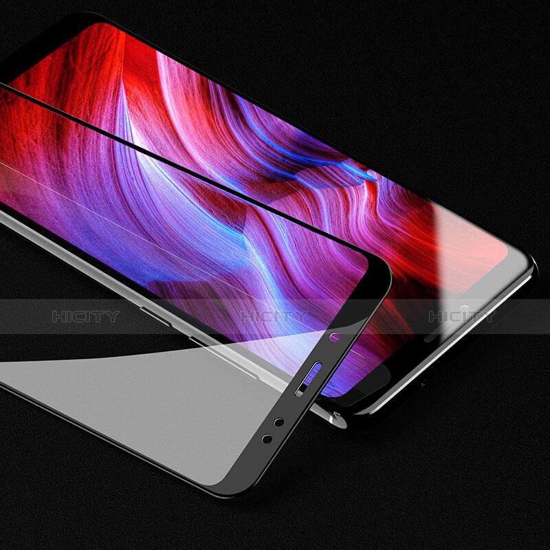 Schutzfolie Full Coverage Displayschutzfolie Panzerfolie Skins zum Aufkleben Gehärtetes Glas Glasfolie für Xiaomi Redmi Note 5 Pro Schwarz groß