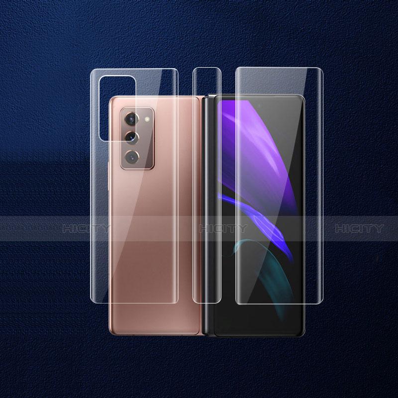Schutzfolie Schutz Folie Rückseite Skins zum Aufkleben Panzerglas B01 für Samsung Galaxy Z Fold2 5G Klar Plus