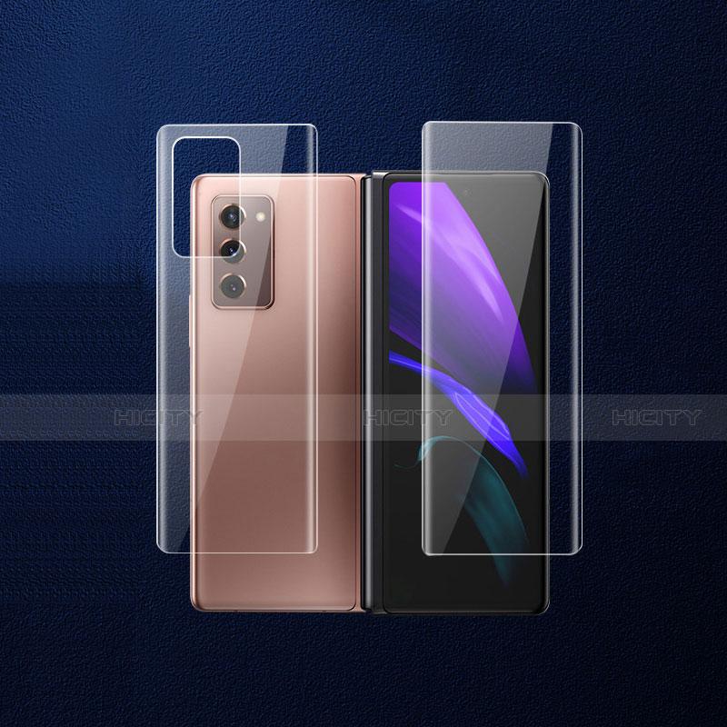 Schutzfolie Schutz Folie Rückseite Skins zum Aufkleben Panzerglas B02 für Samsung Galaxy Z Fold2 5G Klar Plus