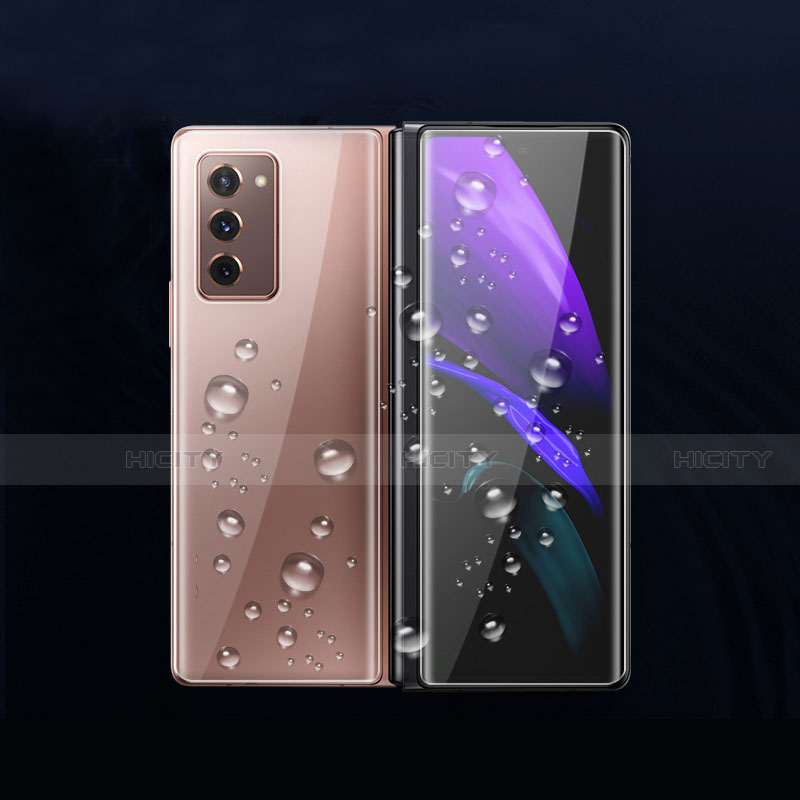 Schutzfolie Schutz Folie Rückseite Skins zum Aufkleben Panzerglas B02 für Samsung Galaxy Z Fold2 5G Klar groß