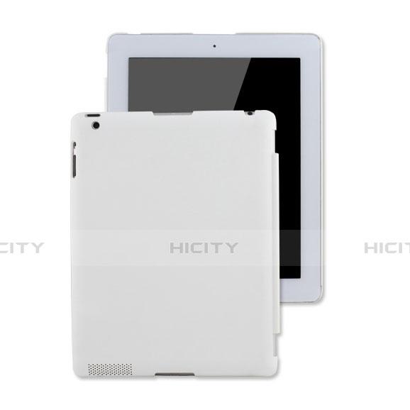 Schutzhülle Kunststoff Hülle Matt für Apple iPad 4 Weiß Plus