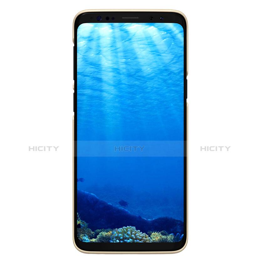 Schutzhülle Kunststoff Hülle Matt M09 für Samsung Galaxy S9 Gold groß
