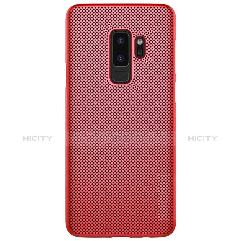 Schutzhülle Kunststoff Hülle Punkte Loch für Samsung Galaxy S9 Plus Rot groß